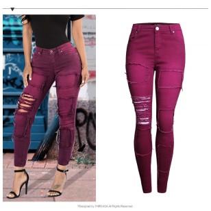 Calça Jeans Feminina Skinny Marsala Ref 7623