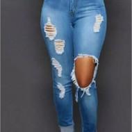 Calça Jeans Feminina Aberta no Joelho Ref 7624