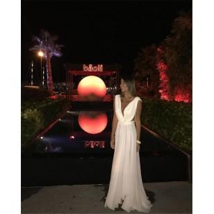 Vestido Pré Wedding Longo Luxo Ref 7637