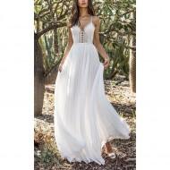 Vestido Branco Renda e Chiffon Pré Wedding Ref 7638