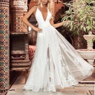 Vestido Longo De Renda Branco Pré Wedding Ref 7651
