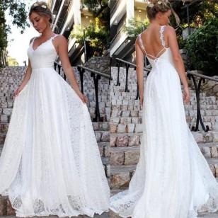 Vestido Noiva Pré Wedding Branco Promoção Ref 7665