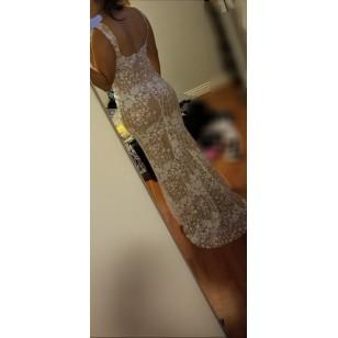 Vestido de Festa OffWhite Formatura Eventos Luxo Ref 7693