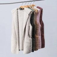 Colete de Pele Feminino Inverno com Bolso 2019 Ref 7707