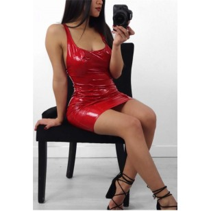 Vestido Látex Moda 2019 Tendência Várias Cores Ref 7723