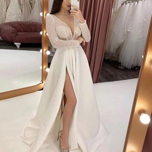 Vestido Pré Wedding Longo Renda Noivas Casamento Ref 7725