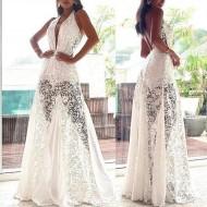 Vestido Pré Wedding Longo Renda Noivas Casamento Ref 7726