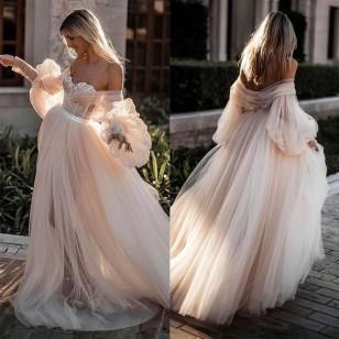 Vestido Pré Wedding Longo Festa Decote Princesa Ref 7736