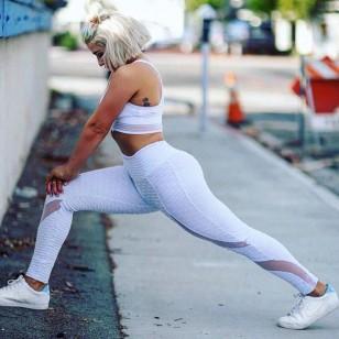 Fitness Legging Branca ou Preta Relevos Ref 7741
