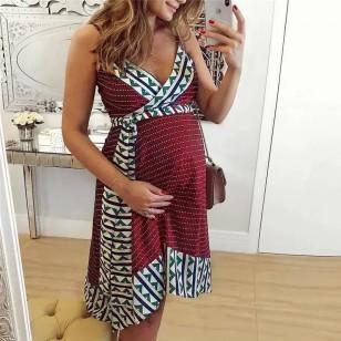 Vestido Gestante Mulher Grávida Maternidade Futura Mamãe Ref 7752