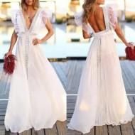 Vestido Pré Wedding Longo Renda Noivas Casamento Ref 7761