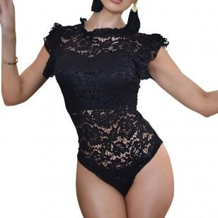 Body Renda Feminino Casual Tendência Ref 7766