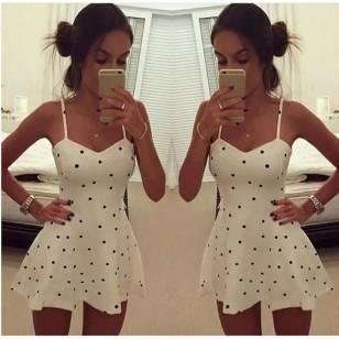 Vestido Branco com Bolinhas Promoção Ref 7787