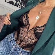 Body Feminino Casual Bojo Renda Neon Ref 7768
