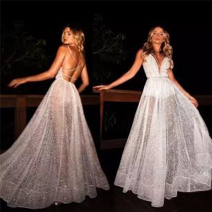 Vestido Pré Wedding Longo Renda Noivas Casamento Ref 7779