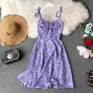 Vestido MIDI com Alças Decote Princesa Ref 7796