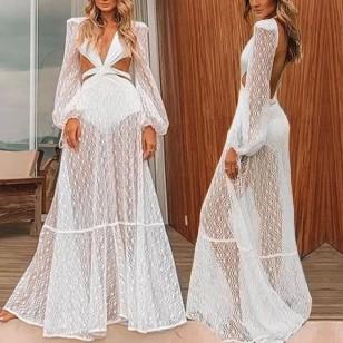 Vestido Pré Wedding Longo Renda Noivas Casamento Ref 7803