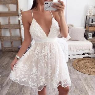 Vestido Pré Wedding Curto Renda Noivas Casamento Ref 7907