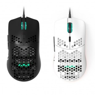 Mouse Glorious Gaming Lucas Lira Branco ou Preto Super Leve