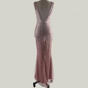 Vestido de Madrinha com Brilhantes Ref 7634