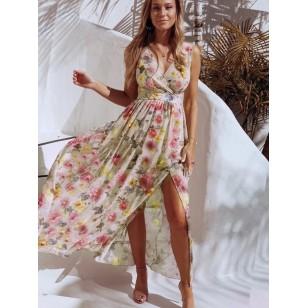 Vestido Longo Estampa Floral de Verão Ref 7850