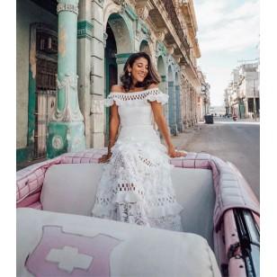 Vestido Pré Wedding Longo Renda Noivas Casamento Ref 7776
