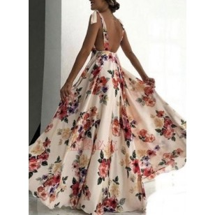 Vestido Longo Floral Juliette Ref 7404