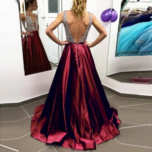 Vestido de Madrinha cor Marsala Ref 7930