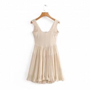 Vestido Rodado Casual Botões Blogueira Vintage Ref 7510