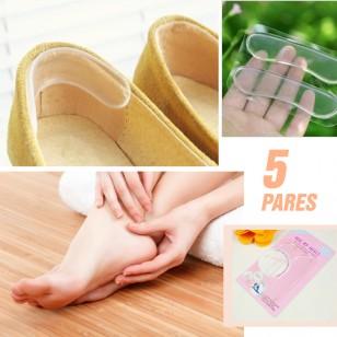 5 Pares - Protetor de Calcanhar em Silicone Gel