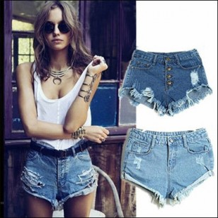 Shorts Jeans Destroyed Vintage (cores) Cod.428