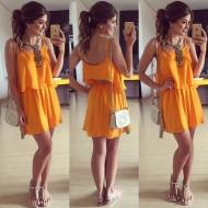 Vestido Orange Ref 5411