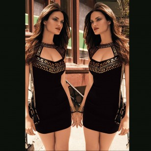 Vestido com Pedrarias Ref 5235