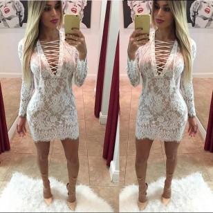 Vestido Renda Ref 5595